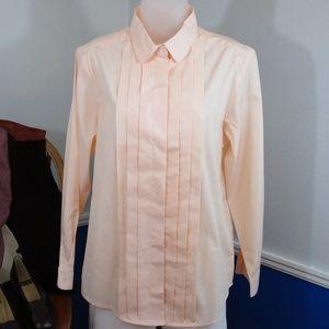 Vintage NWOT Pale Peach Dress Blouse
